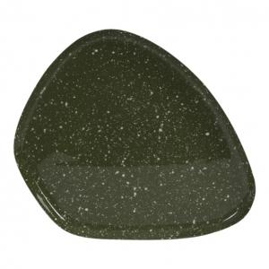 Schaal Moulet Groen-Wit Antiek Goud 25x21cm