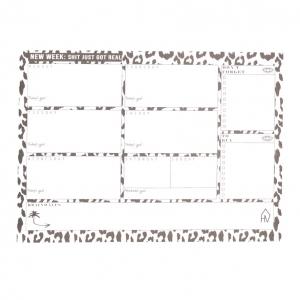Weekplanner Panterprint A4 Housevitamin