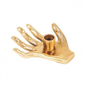 Kaarsenhouder Hand Goud Housevitamin