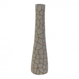 Vaas Jirafa Keramiek Creme Bruin 12,5x50cm