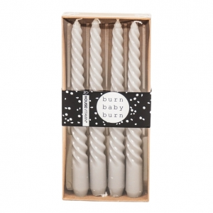 Kaarsen Twisted set van 4 Grijs 20cm Housevitamin