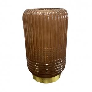 Tafellamp Led Lipa Bruin Mat Glas 27cm L&L
