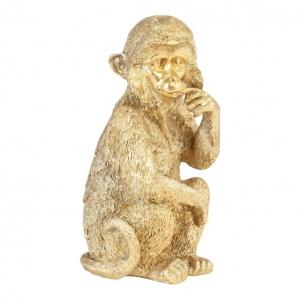 Wandornament Monkey Goud 10x20cm