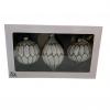 Kerstballen &Klevering Zwart Wit set van 3