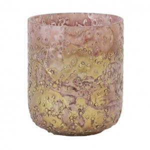 Waxinelichthouder Torbi Roze met Goud 8x9cm