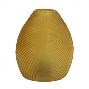 Tafellamp Led Leaf Okergeel mat glas 13,5x15cm