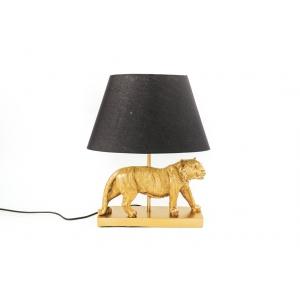 Tafellamp Leeuw met zwarte kap Housevitamin