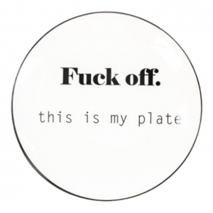 Housevitamin Ontbijtbord Fuck Off this is my plate! 18cm