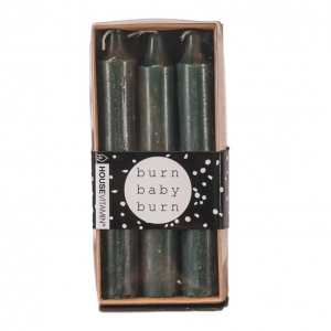 Kaarsen set van 6 Donker Groen 14cm Housevitamin