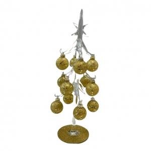 Kerstboom Glas met Goud Diga Colmore Large