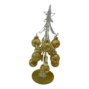 Kerstboom Glas met Goud Diga Colmore Small