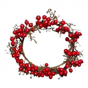 Kerstkransje Rode Besjes 20cm