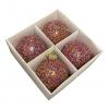 Kerstballen &Klevering Glitter Ballen set van 4