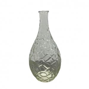 Vaasje bewerkt glas 10x21cm